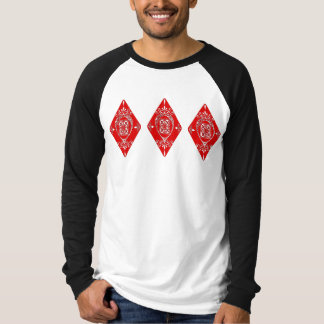 Het versierd Ontwerp van de Diamant T Shirt
