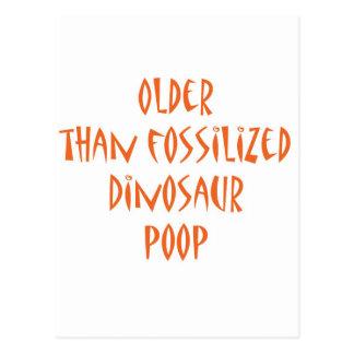 Het verstarde Achterschip van de Dinosaurus Briefkaart