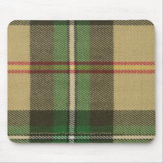 Het verticale Geruite Schotse wollen stof Mousepad Muismat