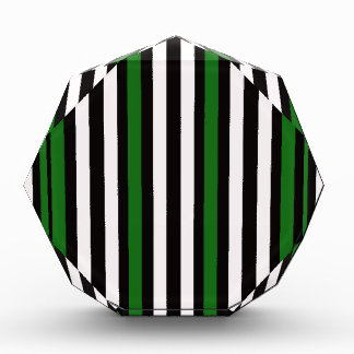 Het Verticale Groene Zwarte Wit van strepen Prijs