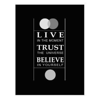 Het vertrouwen gelooft Inspirerend Citaat Wenskaart