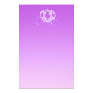 Het Vervoer van het sprookje in Purple. Briefpapier