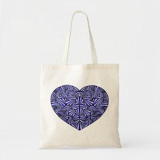Het verwarde Blauwe Canvas tas van het Hart