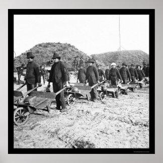 Het verwijderen van Munitie uit Fort McAllister, G Poster