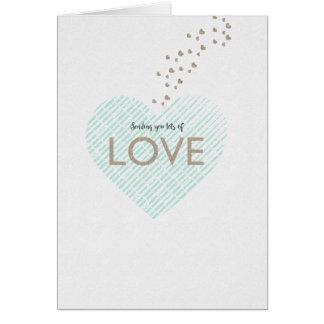 Het verzenden van Veel Liefde Briefkaarten 0
