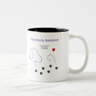 Het veterinaire Print van de hulp-Poot op Mijn Tweekleurige Koffiemok
