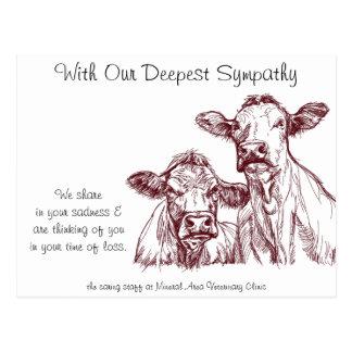 Het veterinaire Vee van de Koeien van de Kaart van Briefkaart
