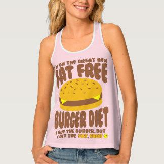 Het vette Vrije Dieet van de Hamburger Tanktop