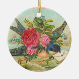 Het Victoriaans Blauwe Ornament van Kerstmis van
