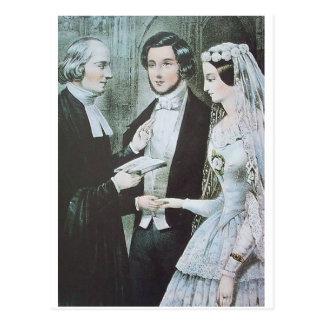 Het Victoriaans Briefkaart van het Huwelijk
