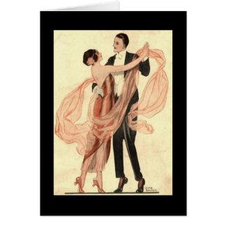 Het Victoriaans Dansen van het Paar Edwardian Briefkaarten 0