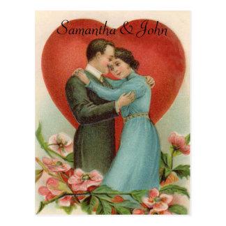 Het Victoriaans Huwelijk bewaart de Datum Briefkaart