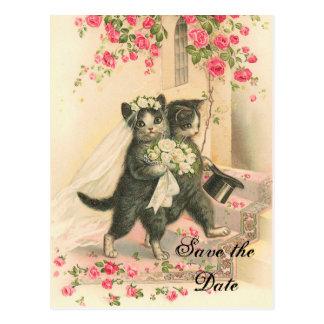 Het Victoriaans Huwelijk van het Katje bewaart de Briefkaart