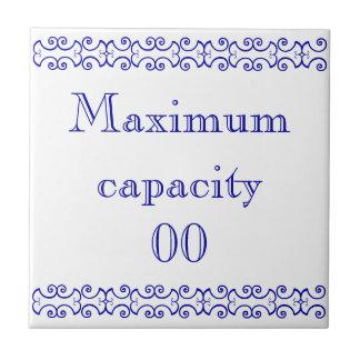 Het Victoriaans MaximumTeken van de Capaciteit Keramisch Tegeltje