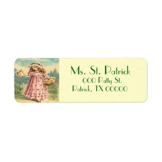 Het Victoriaans St. Patrick van het Kind Etiket