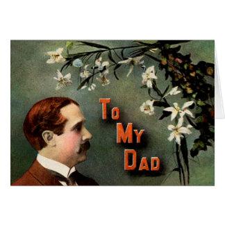 Het Victoriaans Wenskaart van het Vaderdag