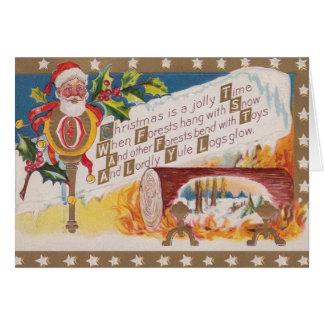 Het Victoriaans Wenskaart van Kerstmis