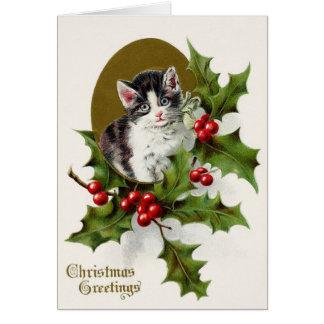 Het Victoriaans Wenskaart van Kerstmis van het