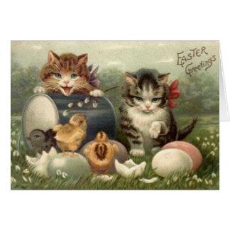 Het Victoriaans Wenskaart van Pasen van Katjes