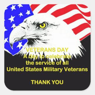 Het vieren de Stickers van de Dag van de Veteranen