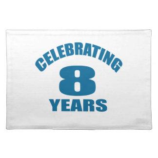 Het vieren het Design van de Verjaardag van 08 Placemat