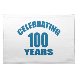 Het vieren het Design van de Verjaardag van 100 Placemat