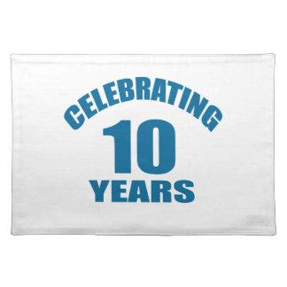 Het vieren het Design van de Verjaardag van 10 Placemat