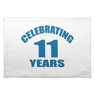 Het vieren het Design van de Verjaardag van 11 Placemat