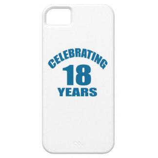 Het vieren het Design van de Verjaardag van 18 Barely There iPhone 5 Hoesje
