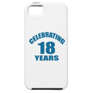 Het vieren het Design van de Verjaardag van 18 Tough iPhone 5 Hoesje