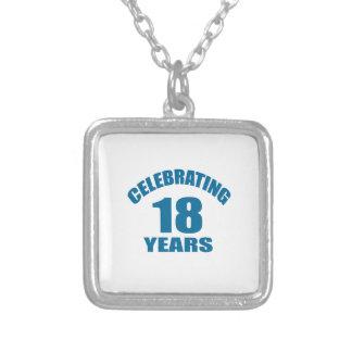 Het vieren het Design van de Verjaardag van 18 Zilver Vergulden Ketting