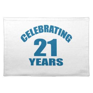 Het vieren het Design van de Verjaardag van 21 Placemat