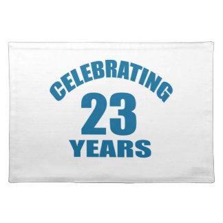 Het vieren het Design van de Verjaardag van 23 Placemat