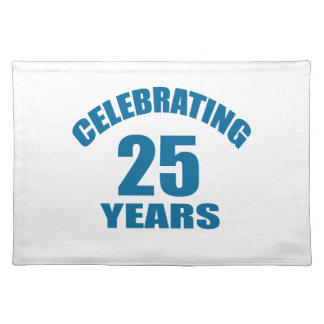 Het vieren het Design van de Verjaardag van 25 Placemat