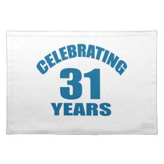 Het vieren het Design van de Verjaardag van 31 Placemat