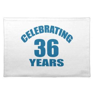 Het vieren het Design van de Verjaardag van 36 Placemat