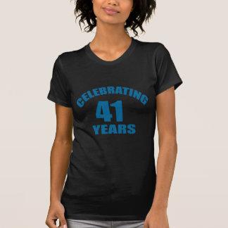 Het vieren het Design van de Verjaardag van 41 T Shirt