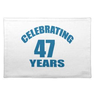 Het vieren het Design van de Verjaardag van 47 Placemat
