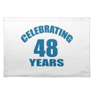 Het vieren het Design van de Verjaardag van 48 Placemat