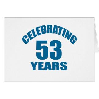 Het vieren het Design van de Verjaardag van 53 Briefkaarten 0