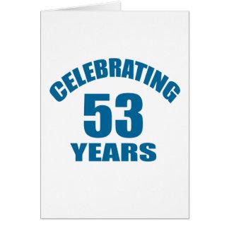 Het vieren het Design van de Verjaardag van 53 Kaart