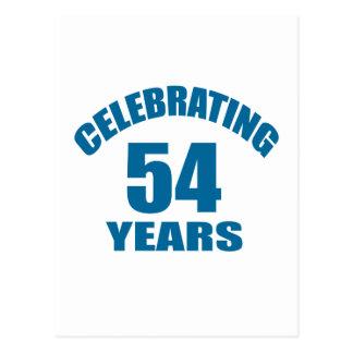 Het vieren het Design van de Verjaardag van 54 Briefkaart