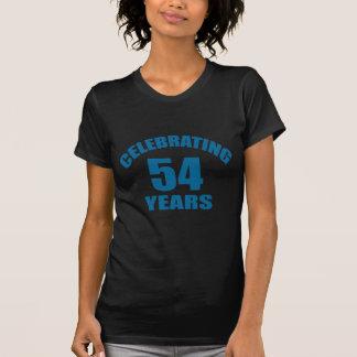 Het vieren het Design van de Verjaardag van 54 T Shirt