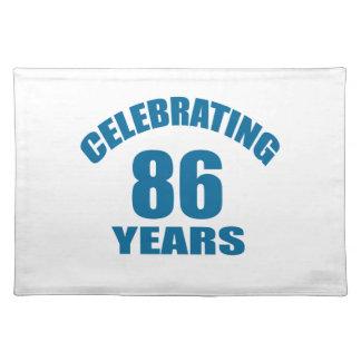 Het vieren het Design van de Verjaardag van 86 Placemat