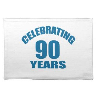 Het vieren het Design van de Verjaardag van 90 Placemat