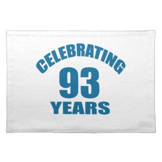 Het vieren het Design van de Verjaardag van 93 Placemat