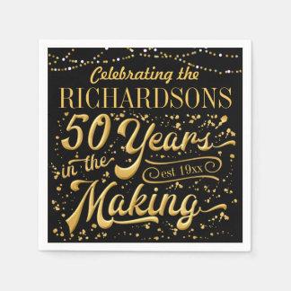 Het vieren van 50 Jaar in het Maken (50ste Anniv) Papieren Servetten