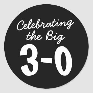 Het vieren van de Grote 30ste Verjaardag Ronde Sticker