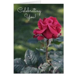 Het vieren van Uw BinnenKaart van de Verjaardag Wenskaart