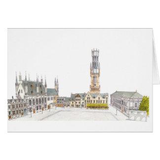Het Vierkant van Burg. Brugge België Kaart
